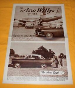 Aero Willys 1953 USA Prospekt Brochure Catalogue