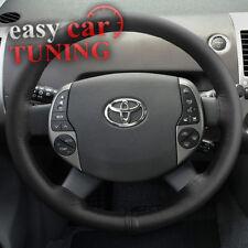 Para Toyota Prius XW20 2003-2009 Negro Genuino Real Cuero Cubierta Del Volante