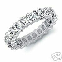 """STERLING SILVER R/P SQ CZ SET FULL ETERNITY RING SIZE """"L"""""""