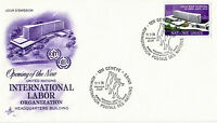 UNITED NATIONS 1974 INTERNATIONAL LABOUR ORGANISATION FIRST DAY COVER