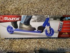 New Blue Razor A125 Anodized Scooter with Adjustable Handlebars 143 lb capacity