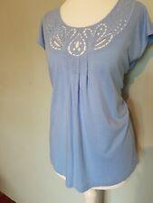 Laura Ashley Blue top size 8