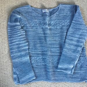 INDIGO MARKS AND SPENCER blue white jumper size 14