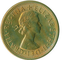 1966 FLORIN TWO SHILLINGS QUEEN ELIZABETH II. UNC WITH TONING  #WT11143