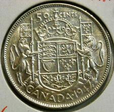 1947 MAPLE LEAF CANADA SILVER HALF DOLLAR VERY NICE HIGH GRADE CIRCULATED COIN