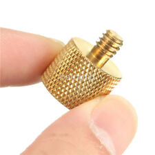 3/8''Female to 1/4''Male Brass Tripod Thread Reducer Adapter For Camera Gold fr