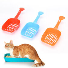 Plastic Cat Kitty Litter Shovel Poop Scoop Cat Owners Supplies Random Colors STU
