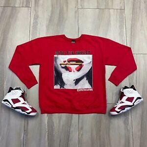 Sweater to match Jordan Retro 6 Carmine Sneakers. Bullet Crewneck