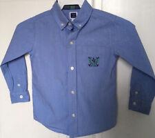 Janie And Jack Boys 3 Shirt Oxford Blue Long Sleeve Cotton Classic
