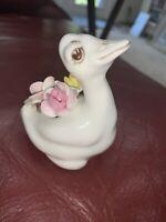 Vintage Coalport Bone China Hand Painted Easter Duck Duckling Figurine blue mark