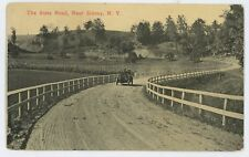 Antique Car Automobile State Road SIDNEY NY Delaware County New York Postcard