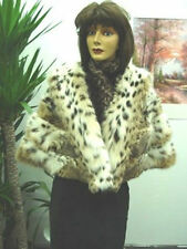 BRAND NEW PLAIN NATURAL MONTANA LYNX FUR STOLE CAPE SHALW WOMEN WOMAN