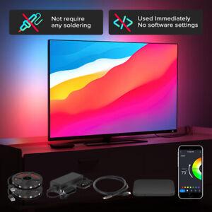 TV PC Backlight Kit 4K-HDMI Monitor Wifi Alexa Google Assistant Control HDTV LED