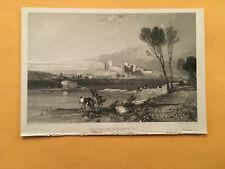 KJ) Original 1834 Chateau De Villeneuvs France Landscape Annual Engraving