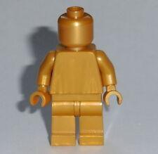 STATUE MINIFIG Lego Solid-Plain PEARL GOLD NEW (Genuine Lego)  Monochrome