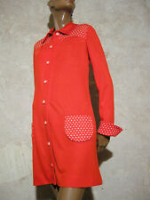 CHIC VINTAGE ROBE JERSEY 1960 TRUE VTG DRESS 60s KLEID 60er VESTIDO  ( 40 )