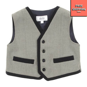 ALETTA Waistcoat Size 9M / 74CM Button Front Made in Italy