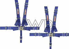 G-Force Blue Pro Series 5 Point Shoulder Harness Racing Seat Belts SFI 2 Sets