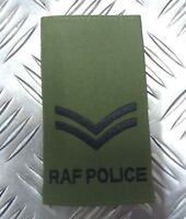 "Genuine British Royal Airforce Police OD Green Rank Slide ""Corporal Rank"" RAFP"