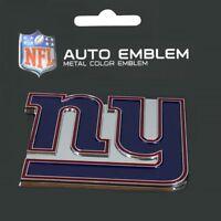 New York Giants Heavy Duty Metal 3-D Color Auto Emblem