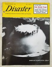 Vintage 1949 RED CROSS DISASTER MAGAZINE (VOL. 3 NO. 1) Civil Defence Plans