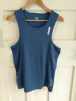 2XU Blue Men's Activewear Sleeveless Tank Top Gym Running Size XS