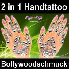 indiano mano adesivo braccialetto strass COLLA Hennè TRAVESTIMENTO CARNEVALE