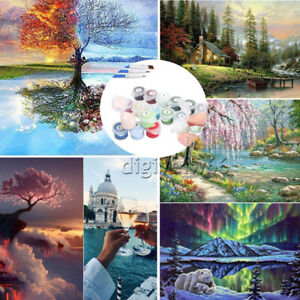 DIY Oil Painting Kit Paint By Numbers Acrylic Beginners Frameless Adult Children