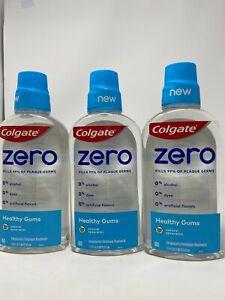 3X Colgate Zero Healthy Gums Mouthwash 17.4 oz each Spearmint EXP 01/22 +
