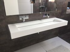 BESPOKE CORIAN WASH TROUGH WITH HIDDEN WASTE