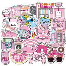 50PC Pink Girl Graffiti Stickers Laptop Skateboard Guitar Fridge Luggage Decals