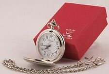 Silver Plated 2010-Now Modern Pocket Watches with 12-Hour Dial