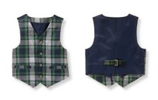 Janie and Jack EVERGREEN CASTLE  Holiday Plaid Wool Vest