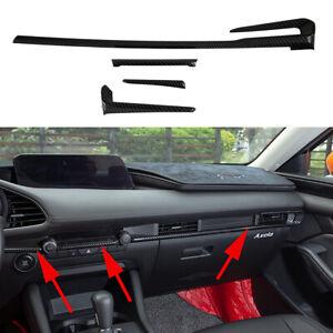 Dashboard Console Control Strip Cover For Mazda 3 Axela 2019 2020 Accessories 4X