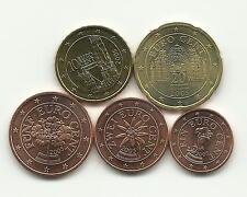 mini serie 1 / 2 / 5 / 10 / 20 Cents  AUTRICHE 2005 neuves ( U N C )