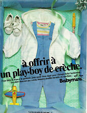 PUBLICITE ADVERTISING 104  1980  BABYMINI   vetements bébés layette
