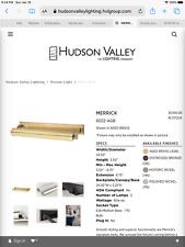 Hudson Valley Merrick 3-Lamp Picture Light in Aged Brass 6602-AGB
