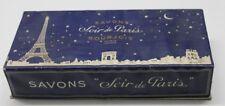 ancienne boite de savons soir de paris bourjois
