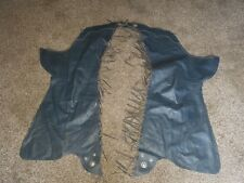 FEMALE HEAVY LEATHER COWBOY WESTERN HORSE RIDING CHAPS w/FRINGE STERLING