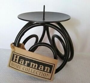 Harman Handmade Wrought? Iron Circle Design Candle Holder Stand w/Tag Home Decor
