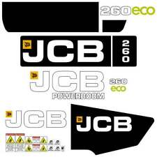 JCB 260 ECO Decals  - Repro Decal Stickers Kit