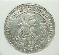 1621-HvR SAXONY JOHANN GEORG I SILVER TALER NGC AU-53