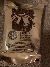 Military Ration MRE Menu 18 Beef Ravioli In Meat Sauce
