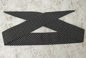 Narrow headband retro self tie head scarf rockabilly fabric bandanna pin up 50's