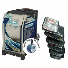 Zuca Great Wave Sport Insert Bag with Black Frame and Packing Pouch Set