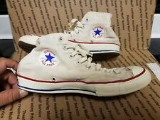 Vintage Chuck Taylor Blue Label All Star Converse High Top Shoes Sz 9; Usa Made