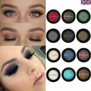 PHOERA Matte Eye Shadow Natural Waterproof Nude Eyeshadow Cosmetic Long-lasting