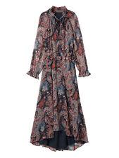 NWT $248 Banana Republic Olivia Palermo Paisley Print Silk Maxi Dress L