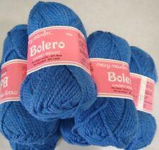 6 skeins vintage Mary Maxim Bolero chunky wool blend 50 gram blue (2)