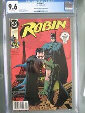 Robin #1 UPC Newsstand Edition CGC 9.6 WP DC Comics 1991 RARE Second Printing